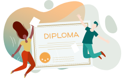Emite diplomas de finalización de los cursos para recompensar a tus estudiantes y verificar su éxito